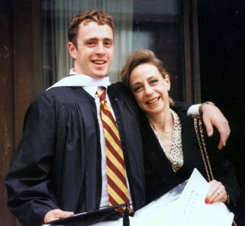 Welles Remy Crowther and his mother, Allison, at his BC graduation. (Welles Remy Crowther Charitable Trust)