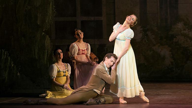 Patrick Yocum and Ashley Ellis in John Cranko's Onegin; photo by Gene Schiavone, courtesy of Boston Ballet