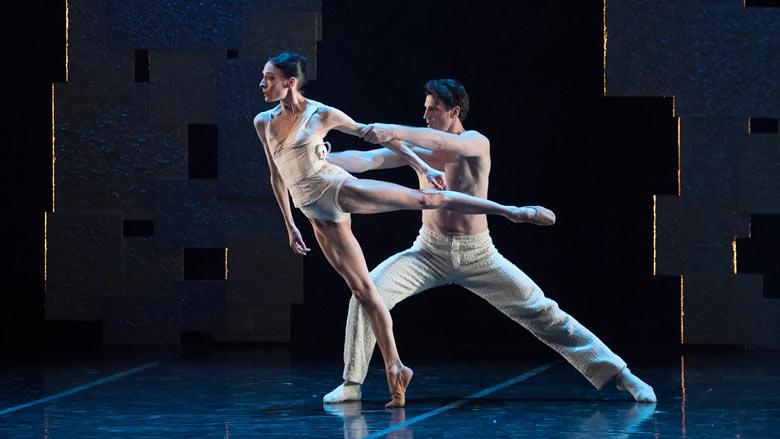 Anaïs Chalendard and Sabi Varga of Boston Ballet in Yury Yanowsky's Smoke and Mirrors; photo by Gene Schiavone, courtesy Boston Ballet