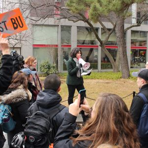 Boston University Student Activists Protest Trump, BU Fossil Fuel Holdings