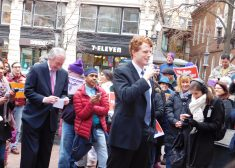 Rally Photo — Joseph P. Kennedy III Speaking, With Ed Markey At Left — Boston — Tuesday 2-21-2017.JPG