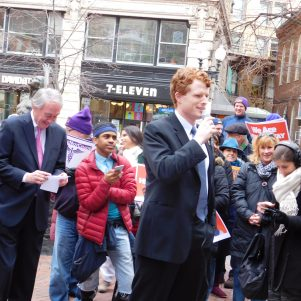 Kennedy, Markey Excite 'We Will Resist' Rally Near Downtown Crossing