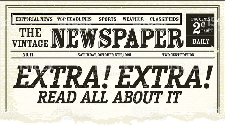Will newspapers go the way of the sailboat newbostonpost for Old fashioned newspaper template free