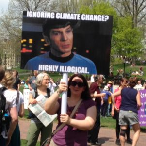 Climate Change Rally Has '60s Feel