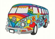 Hippie Photo — Volkswagen Bus II — James P. Freeman — Saved Wednesday 6-21-2017