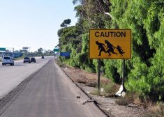 Illegal Immigration Sign — Mexican Border Crossing — Saved Thursday 8-3-2017