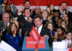 Marty Walsh Photo — With Crowd — Boston Mayor Marty Walsh — Saved Tuesday 11-21-2017