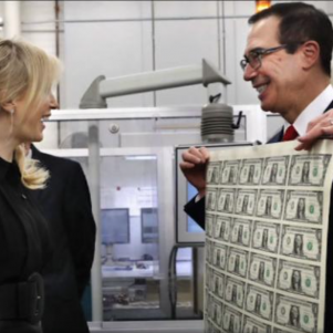 Mnuchin Money Leather-Glove Photo Sure Does Tell Some Story About Smirking
