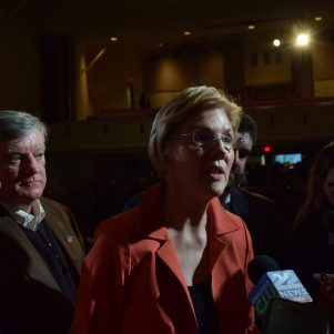 "As Challengers Line Up, Liz Warren Says ""We're Ready"" For 2018"