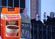 Brian Joyce and Dunkin' Donuts Coffee Photo Graphic — Photo Graphic By Evan Lips — Saved Thursday 12-14-2017