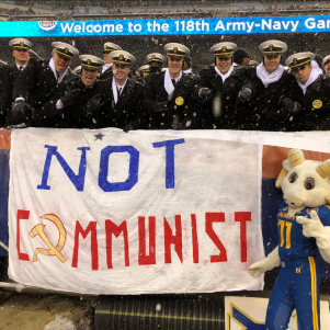 Navy Trolls Army Over Commie West Point Grad