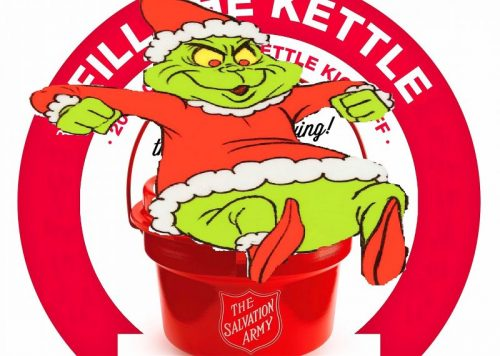 Salvation Army Graphic — Grinch Sitting on Kettle — Better One of the Two — Graphic Made By Evan Lips — Saved Wednesday 12-13-2017