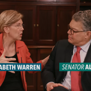 Warren Reportedly Calling on Franken to Resign From Senate, But Won't Comment Publicly