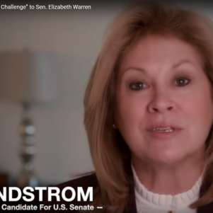 As Liz Warren Rips Democratic Colleagues, GOP Challenger Lindstrom Attacks Warren's 'Rock-Throwing'