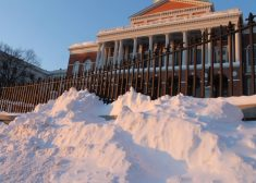 Snow Outside State House Photo — State House News Service — January 2018 — Saved Saturday 1-6-2018