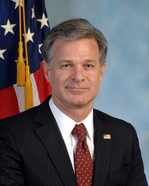 FBI Director Photo — Christopher Wray — Saved Friday 2-16-2018