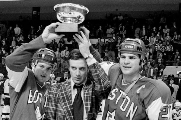Mike Eruzione Photo — Winning Beanpot at B.U. — Black and White — Saved Monday 2-19-2018