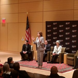 Nancy Pelosi Comes To Cambridge To Rip 'GOP Tax Scam Bill' — But Some Like Their 'Crumbs'