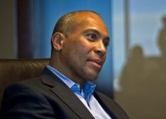 Deval Patrick Photo — Looking Sideways to the Right With Bemused Look on His Face — Saved Saturday 3-10-2018