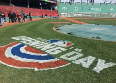 Opening Day Photo — Opening Day Painted on the Field — Diane Kilgore — Saved Thursday 4-5-2018