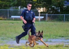 Sean Gannon Photo — Yarmouth Police Officer Killed — With Dog Nero — Saved Thursday 4-12-2018