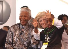 Eunice Photo — Eunice Kennedy Shriver With Nelson Mandela and Special Olympics Athlete — Saved Friday 6-1-2018