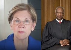 Elizabeth Warren and Clarence Thomas Photo — Saved Wednesday 7-4-2018