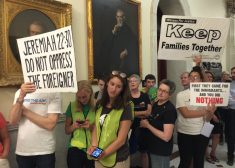Sanctuary State Protest Photo — Massachusetts State House — Jeremiah Sign — State House News Service — Saved Saturday 7-21-2018
