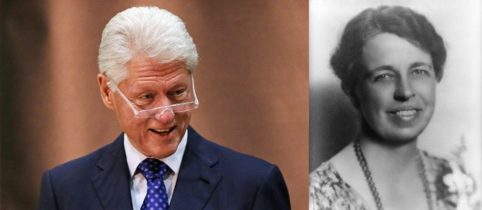 Bill Clinton and Eleanor Roosevelt Photo — Bigger Images — Saved Tuesday 8-7-2018