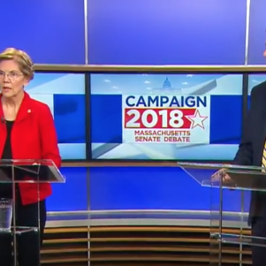 Diehl, Warren Tangle in Sharp Debate