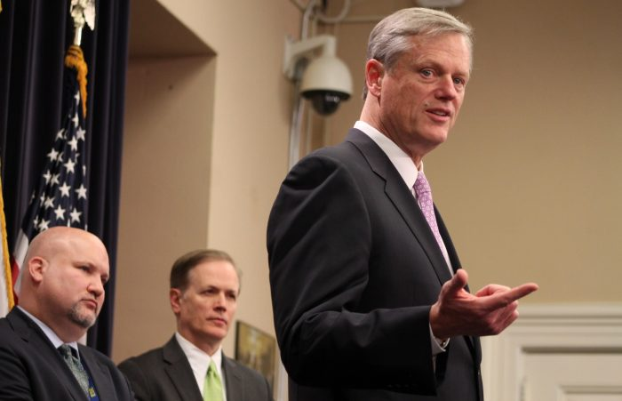 Charlie Baker Photo — Taxes — Photo by Sam Doran — State House News Service — Saved Wednesday 1-23-2019