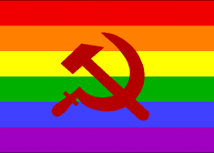 Rainbow Flag With Hammer and Sickle Image — Iori — Alternate History.com — Saved Thursday 1-10-2019