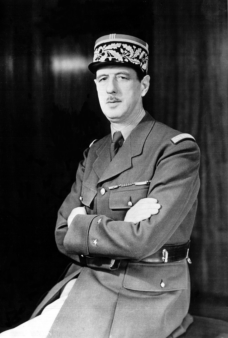 Charles de Gaulle Photo — World War II — Wikipedia — Saved Friday 2-15-2019