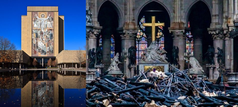 Notre Dame University Photo and Notre Dame Cathedral Photo — Saved Wednesday 4-24-2019