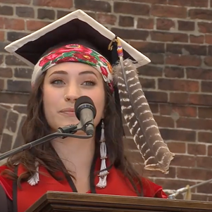 Brown University Is On Occupied Territory and Is Part of the Problem, About-To-Be-Tattooed New Graduate Tells Fellow Graduates