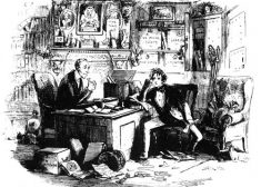 Bleak House Illustration — Attorney and Client — Charles Dickens — Saved Wednesday 12-11-2019