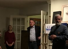 Michael Bennet Photo — at House Party in Brentwood, New Hampshire — Photo by Tom Joyce — Saved Monday 2-10-2020jpg
