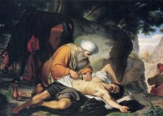 Parable of the Good Samaritan Painting — Italian — 17th Century — Wikipedia — Saved Friday 3-20-2020