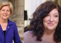 Elizabeth Warren and Tara Reade Photo –Tighter Crop of Tara Reade Photo — Saved Friday 5-2-2020