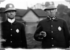 Police Photo — Two Cops — Old Photo — Black and White — Saved Monday 6-8-2020