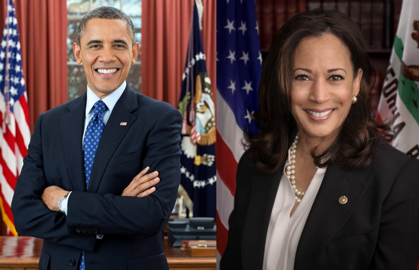 Barack Obama and Kamala Harris Photo — Two Photos Merged Into One — Wikipedia Photos — Saved Tuesday 8-18-2020