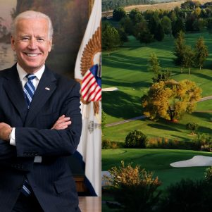 Biden Takes Campaign to Country Club, But May Wind Up in Sand Trap