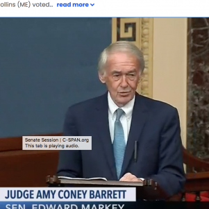 Ed Markey Calls Amy Coney Barrett's Originalism 'Racist,' 'Sexist,' 'Homophobic' … 'Just A Fancy Word for Discrimination'
