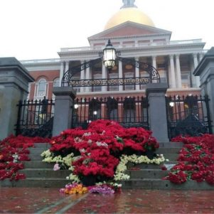 Pro-Life Group Prays In Pouring Rain For Defeat of Abortion-Expansion Amendment Outside Massachusetts State House