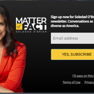 WCVB-TV Channel 5's Web Site Keeps Promoting Liberal Journalist Soledad O'Brien